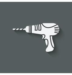 drill screwdriver symbol vector image