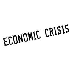 Economic crisis rubber stamp vector