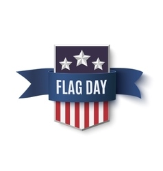 Flag Day background template vector image vector image
