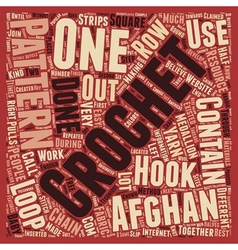 Free crochet afghan patterns 1 text background vector