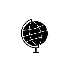 Globe solid icon school and education element vector