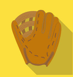 Glove trap baseball single icon in flat style vector