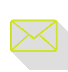 Letter sign pear icon with flat vector