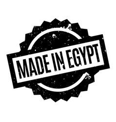 Made in egypt rubber stamp vector