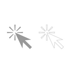 mouse click the grey set icon vector image