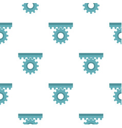 One gear pattern seamless vector