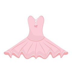 Pink ballet dress vector image vector image