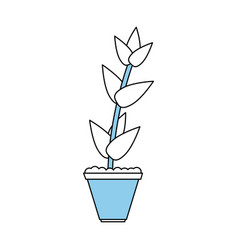 potted plant icon image vector image vector image