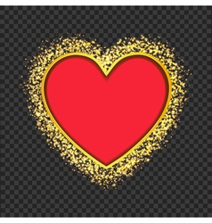 red heart frame vector image