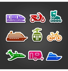 Set simple transportation color icons vector image vector image