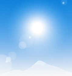 sun over the mountains vector image vector image