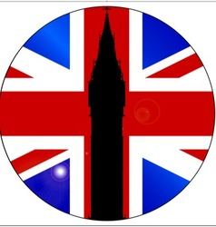 Union Jack Button vector image vector image