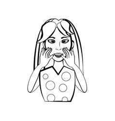 vintage woman cartoon vector image