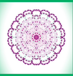 violet art mandala vector image vector image