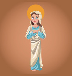 Virgin mary spiritual sac image vector