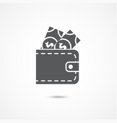 wallet icon on white vector image vector image