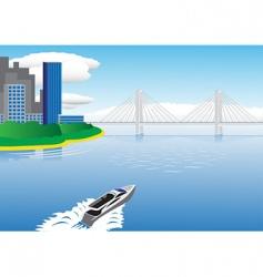 water scenery vector image