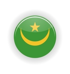 Mauritania icon circle vector