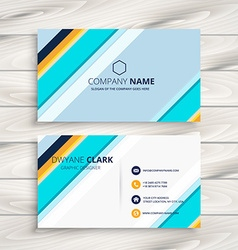 Modern abstract business card vector