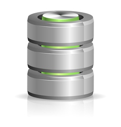 Database and hard disk icon vector