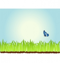 Morning grass vector