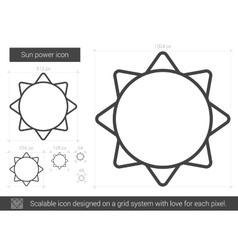 Sun power line icon vector