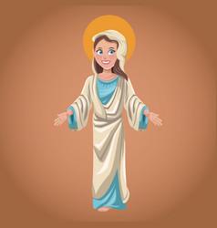 Virgin mary spiritual religion image vector