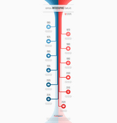 Vertical timeline web infographic template 12 vector
