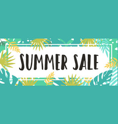 Summer sale tropical style vector