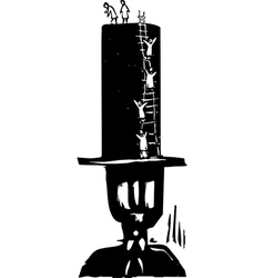 Climbing to the top hat vector