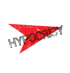 Hypocrisy rubber stamp vector