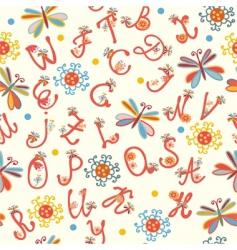 alphabet funny seamless vector image