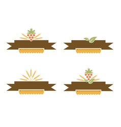 Bakery and harvest banner set vector
