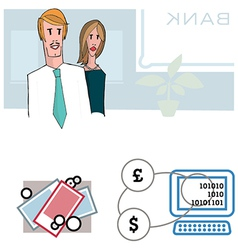 Bank people vector