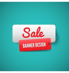 Sale 3d banner tag sales labels concept vector