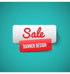 Sale 3D banner tag Sales Labels concept vector image