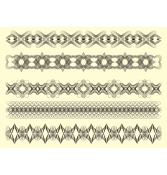 Five decorative lines vector