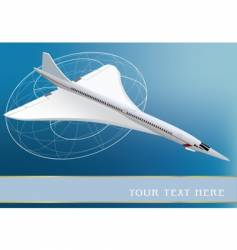 Supersonic plane vector