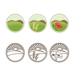 Icons of nature vector