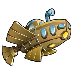 wooden submarine vector image