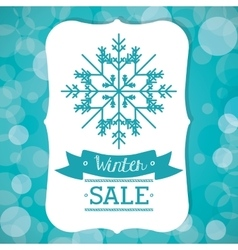 Winter sale design vector