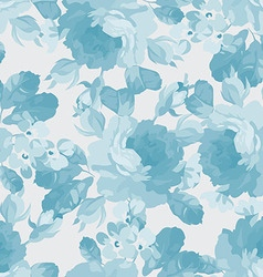 Floral pattern with blue roses vector image