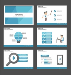 Businessman presentation templates infographic set vector