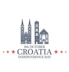 Independence day croatia vector
