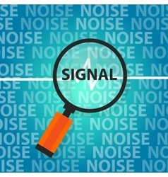 Signal to noise ratio find right information above vector