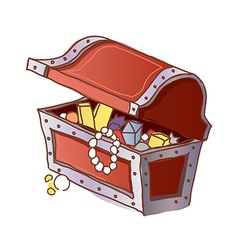A treasure chest is open vector