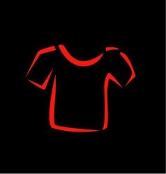 Abstract drawing of tshirt vector image