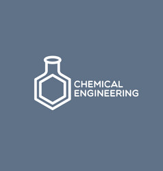 Chemical engineering logo vector