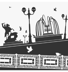 City park and landmarks vector