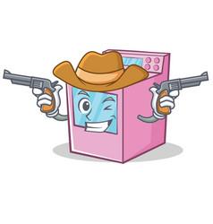 Cowboy gas stove character cartoon vector